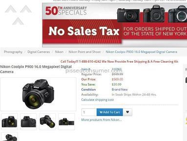 America Cameras - What a scam - don't buy online from them.
