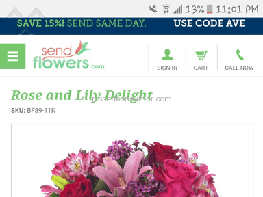 Sendflowers Bouquet review 132205