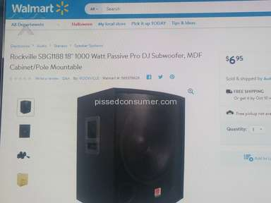 Walmart Rockville Sbg1188 Subwoofer review 236242
