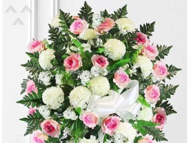 Avasflowers Pink And White Sympathy Arrangement review 273644