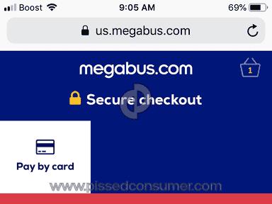 Megabus - Issue booking online