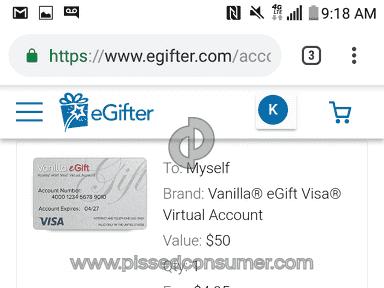 eGifter - WORST COMPANY EVER