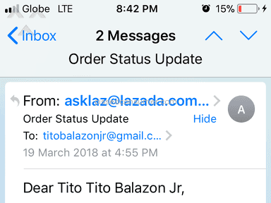 Lazada Philippines Shipping Service review 276930