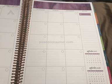Erin Condren - Sold me an outdated planner