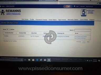 Remanns Engine - Customer service/lack of tracking information