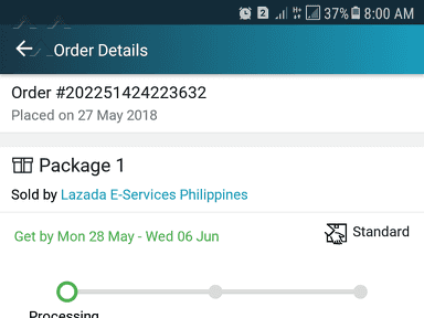 Lazada Philippines - Stuck at processing