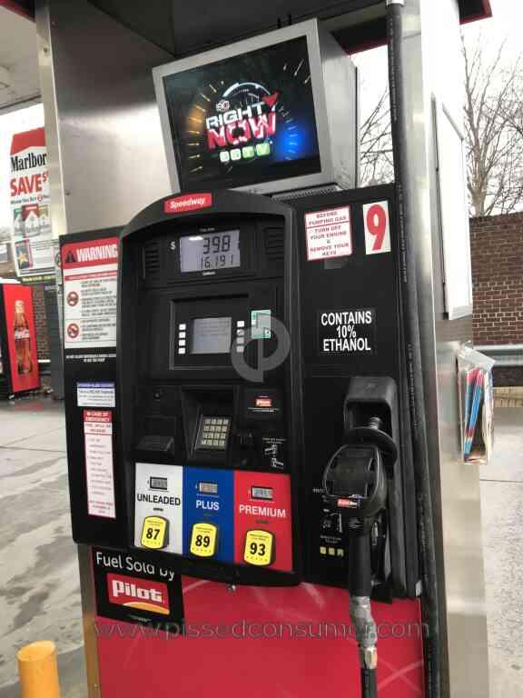 Speedway Gas Station Gas Tank Refill