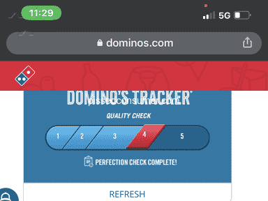 Dominos Pizza Fast Food review 1106540