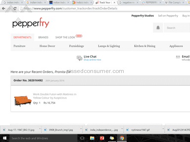 Pepperfry Customer Care review 112693