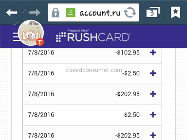 Rushcard Prepaid Card review 148504