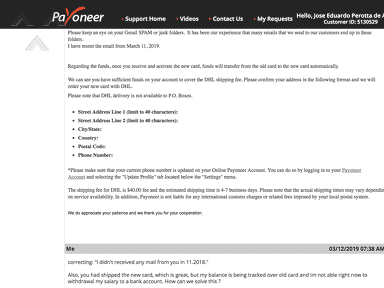 Payoneer - Unacceptable errors from their side