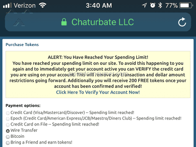 Chaturbate - Why give me a spending limit