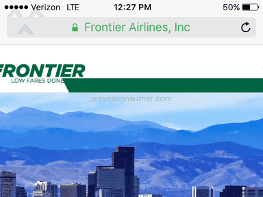 Frontier Airlines - Flight 623 Review