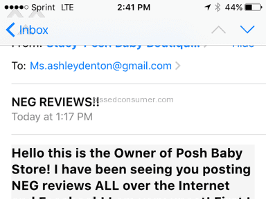 Posh Baby Store Kids' Stores review 108975