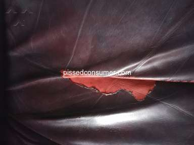 Jordans Furniture - Faux leather passed off as real leather