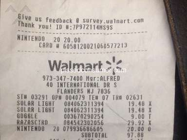Walmart Sanitary Conditions review 701339
