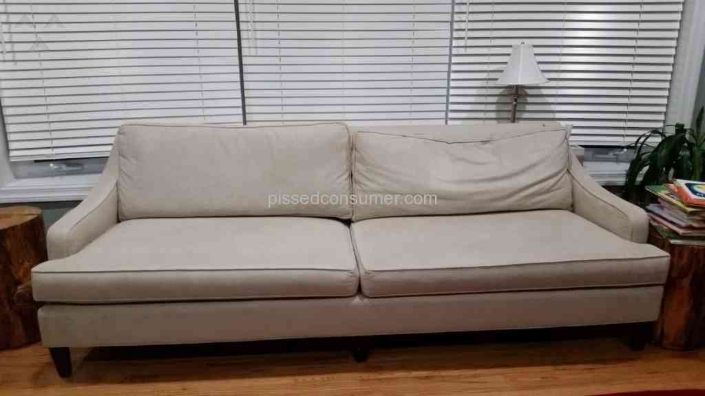 Pottery Barn Overpriced Sofa With A Defect But Not Backed By The Company