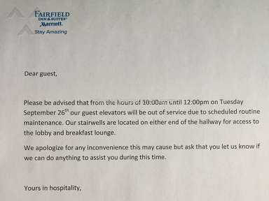 Fairfield Inn And Suites Customer Care review 164182