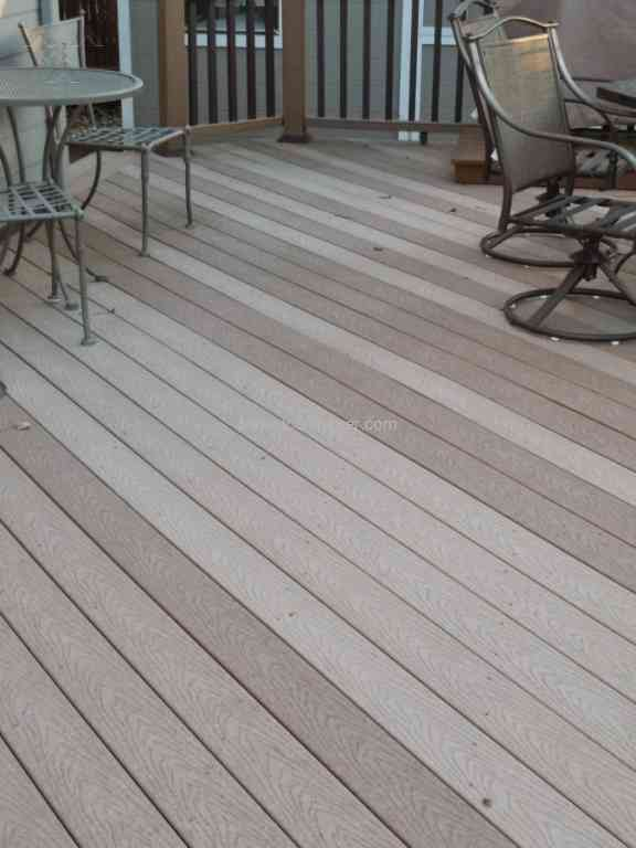 Trex Decking   Uneven Deck Coloring And Trex Does Not Care