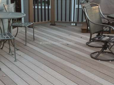 Trex Decking - Uneven deck coloring and Trex does not care