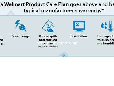 Walmart - False advertising from Wal-Mart on care plan