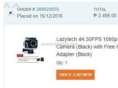 Lazada Philippines Lazytech 30fps Action Camera review 181522