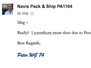 NAVIS Pack and Ship - Owner of Philly location is a first class ***