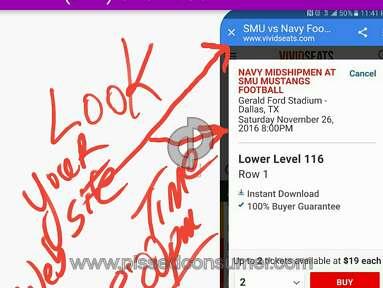 Vivid Seats Football Ticket review 176808