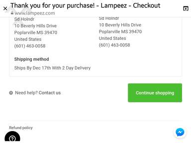 Lampeez Shipping Service review 356304