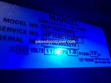 Marvel Refrigeration - DO NOT BUY A MARVEL UNDERCOUNTER REFRIGERATOR