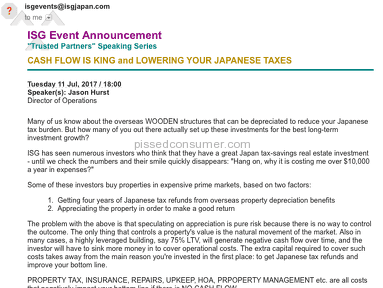 International Solution Group Japan - BEWARE of these ISG JAPAN conmen