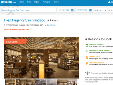 Priceline Hyatt Regency Room Booking review 231908