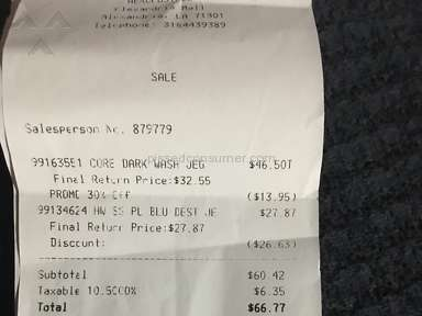 Aeropostale - Sale price misleading