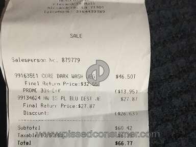 Aeropostale - Sale price misleading