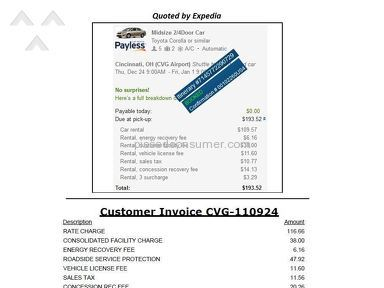 Payless Car Rental - Over Charging / Deceptive Quotes
