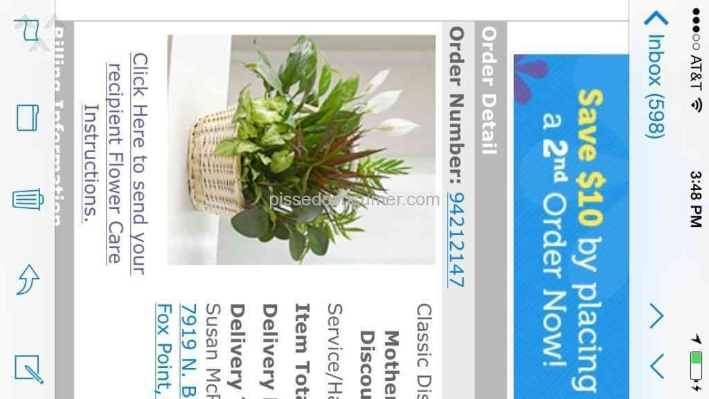 1 Colorado From You Flowers Flower Basket Review Or Complaint