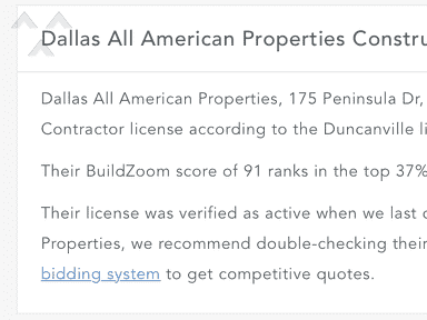 Dallas All American Properties - Loan Crook