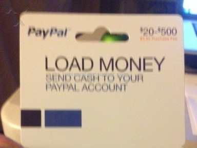 PayPal MyCash Card selling a fraudulent service and PauPal Money Loading card