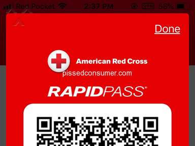 American Red Cross - Donating blood