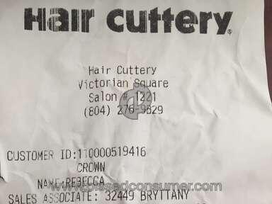 Hair Cuttery Haircut review 153534