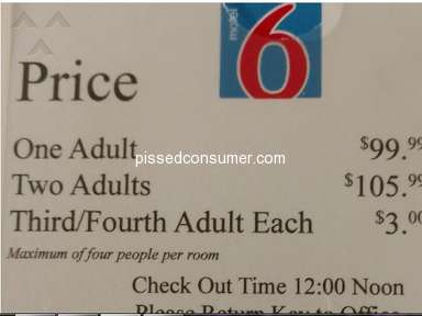 Motel 6 - Room pricing