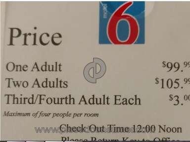 Motel 6 - Room pricing