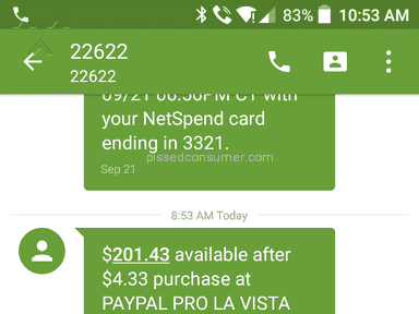 Netspend - Premier Debit Card Review from Brownsville, Florida