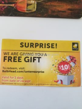 Bulbhead Gift Coupon