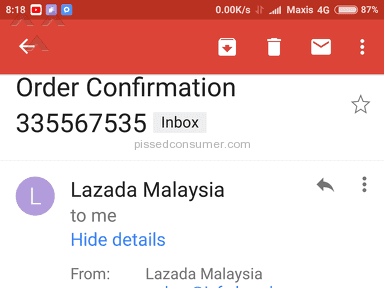 Lazada Malaysia Shipping Service review 231090