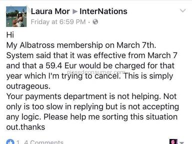 InterNations Albatross Membership review 197706