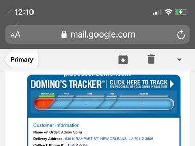 Dominos Pizza Fast Food review 958295