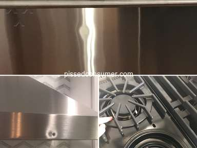 Viking Range - Dishonest advertising and sending dented products
