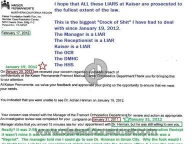 Kaiser Permanente Doctor review 83035