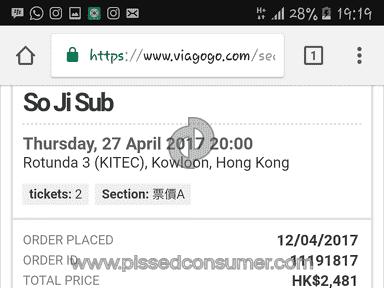 Viagogo - So Ji Sub Twenty The Moment Concert Ticket Review